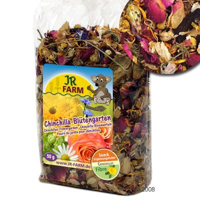 JR Farm Chinchilla Flower Garden - Saver Pack: 2 x 250 g