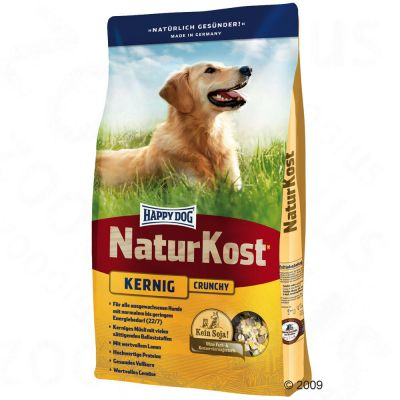 Happy Dog NaturKost Full-Grained Crunch - Economy pack: 2 x 15 kg