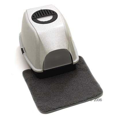 Cat Litter Tray Mat - dark gray/black