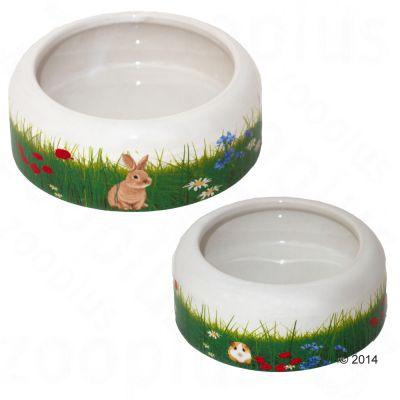 Gamelle en ceramique Printemps pour rongeur et lapin - 500 mL