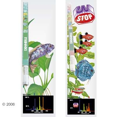 Dennerle Trocal T8 African-Lake + Color-Plus Bulbs - 2 x 30 Watt, L 89.5 cm