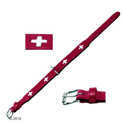 Hunter Dog Leather Collar Swiss - Size 60: Adjusts 47 - 54cm
