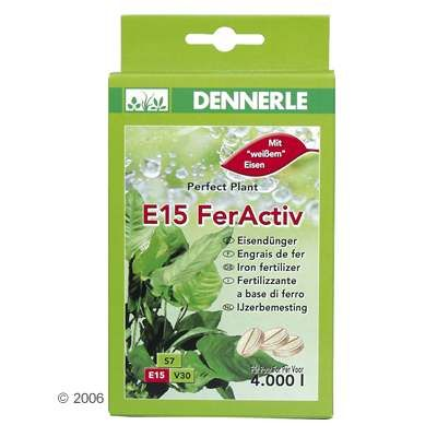 Dennerle E15 FerActiv Iron Fertilizer - 20 Tablets for 2.000 Liters Aquarium Water