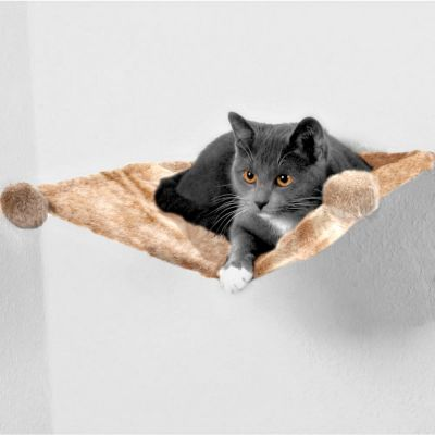 Trixie Plush Hammock for Wall Mounting - 42 x 41 x 15 cm (L x W x H)