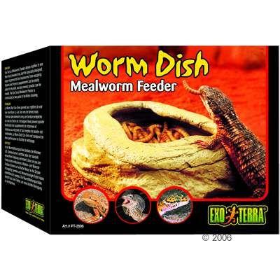 Hagen Exo Terra Worm Dish Mealworm Feeder - dimensions: 11.5 x 9 x 4.5 cm (LxWxH)