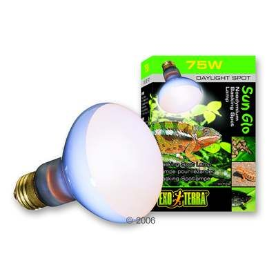 Exo Terra Sun Glo Neodymium Daylight Basking Spot Lamp - 75 Watt