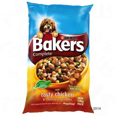 Bakers Complete Tasty Chicken & Country Vegetables - Economy Pack: 2 x 14kg