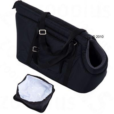 Sleek Nylon Travel Bag - internal dimensions 34 x 19 x 17 cm (L x W x H) / grey lining