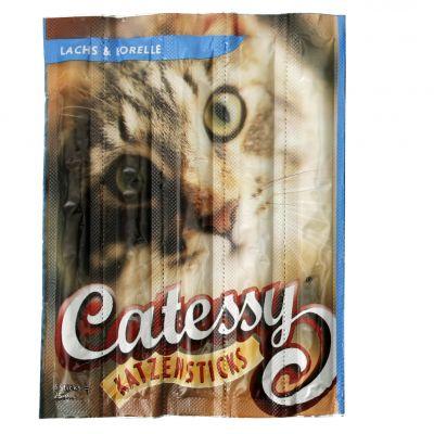 Bâtonnets pour chat à mâcher Catessy au saumon & à la truite- 15 bâtonnets