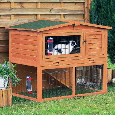 Trixie Natura Giant Hutch & Run - 134 x 83 x 111 cm (Large)