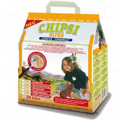 Litiere Chipsi Ultra pour rongeur et lapin - 10 L (4,5 kg)