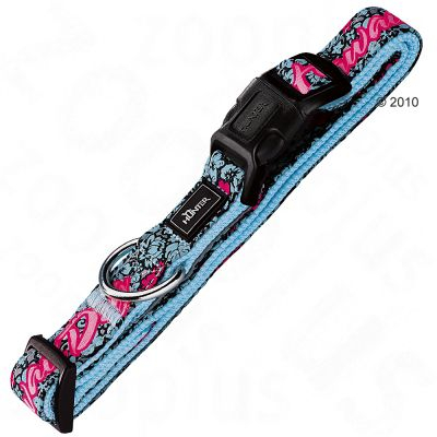 Hunter Dog collar Krazy Hawaii - Size L: 45 - 65cm, 2.5cm wide