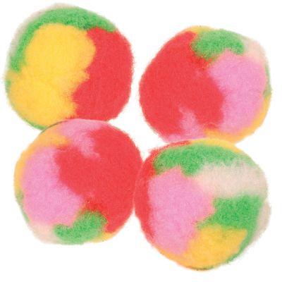 Balles pompon pour chat garnie de menthe à chat- lot de 4 balles