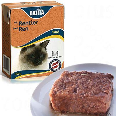 Bozita Paté comida para gatos 6 x 360 g - - Con ciervo
