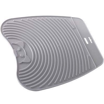 Ribbed Mat for Litter Boxes - gray