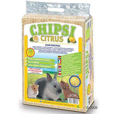 Litiere Chipsi Citrus pour rongeur - 60 L (3,6 kg environ)