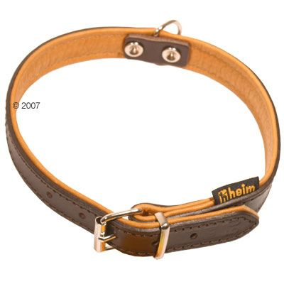 Heim Dog Collar brown/cognac - Size 60: 45 - 55 cm neck circumference