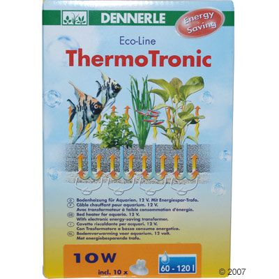 Dennerle ThermoTronic Bed Heater - 40 Watts for Aquariums from 200 to 400l