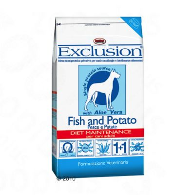 Exclusion Dog Food with Fish and Potato - Economy pack 2 x 15 kg
