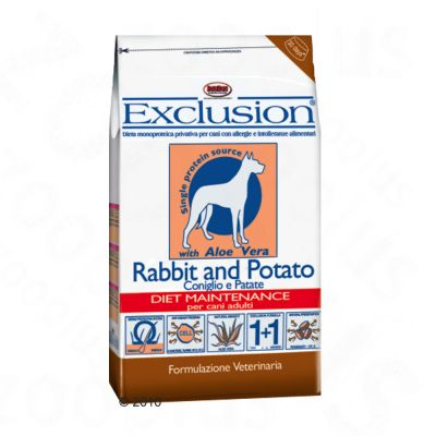 Exclusion Dog Food with Rabbit and Potato - Economy pack 2 x 15 kg