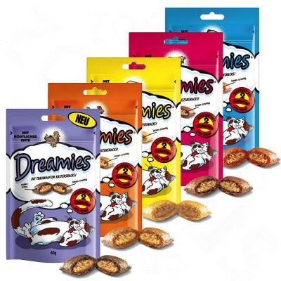 Dreamies Cat Treats 60g - Saver Pack: 3 x with Salmon