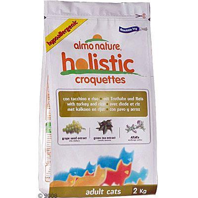 Croquettes pour chat Almo Nature Holistic, dinde & riz- 400 g