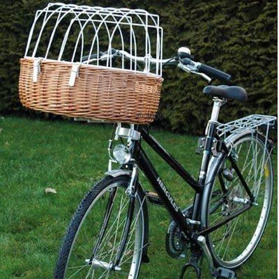 Bicycle Basket with Protective Wire (Handle Bar Mount) - Maxi: 66 x 48 x 44 cm (LxWxH)