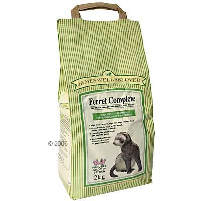 James Wellbeloved Ferret Complete pour furet- 2 kg