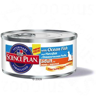 Hill's Science Plan Adult Cat Optimal Care - Ocean Fish - 6 x 156g