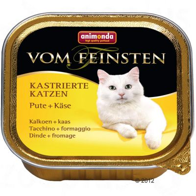 Animonda vom Feinsten for Neutered Cats 6 x 100g - Turkey & Cheese