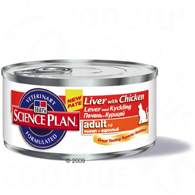 Hill's Science Plan Adult Cat Optimal Care - Liver & Chicken - 6 x 156g