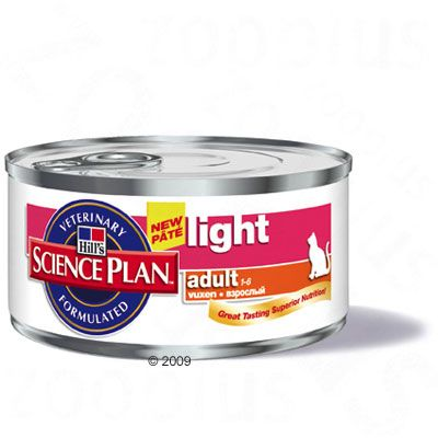 Hill's Science Plan Adult Cat Light Wet Food - Chicken - 6 x 156g