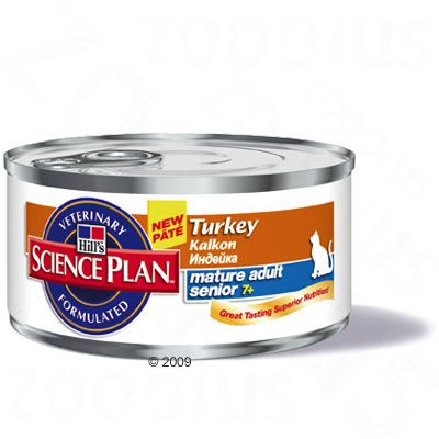 Science Plan Feline Mature Adult 7+ with Turkey - 6 x 156 g