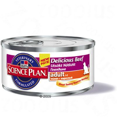 Hill's Science Plan Adult Cat Optimal Care - Beef - 6 x 85g
