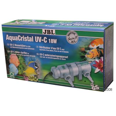 JBL AquaCristal UV-C Water Clarifier Series II - 11 Watt Filter for Aquariums up to 200 L, Ponds up to 1000 L