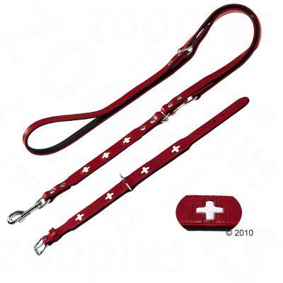 Hunter Set Halsband Swiss Hondenlijn Swiss Maat Halsband 42 Lijn 2 M