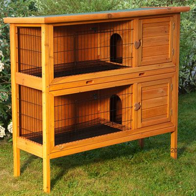 Outback Double Pet Hutch - 125 x 46 x 114 cm (L x W x H)