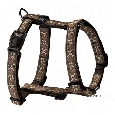 Hunter Hundegeschirr Krazy Scull Flower Vario Rapid - Gr. M 48 - 70 cm Brustumfang