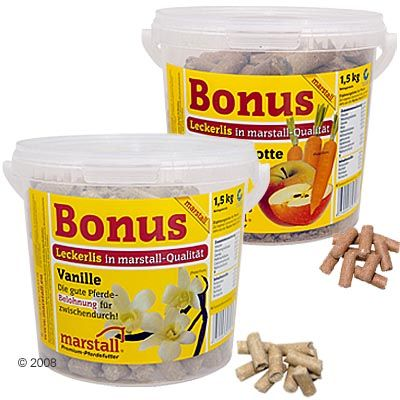 Friandises pour chevaux Marstall Bonus- 1,5 kg pomme & carotte