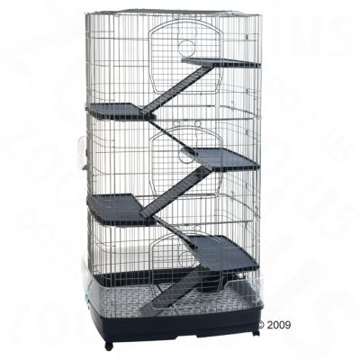 Large Cage Tridoor for Small Pets - Black