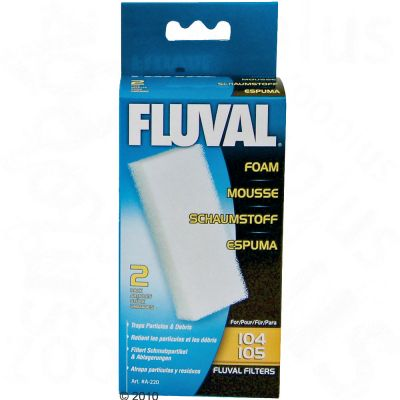 Fluval Foam Filter Cartridges 2 cartridges - for model 104