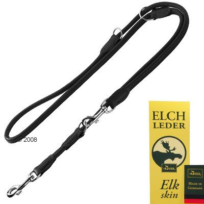 Hunter Dog Lead Round & Soft - Black - 200 cm long, Ø 10 mm