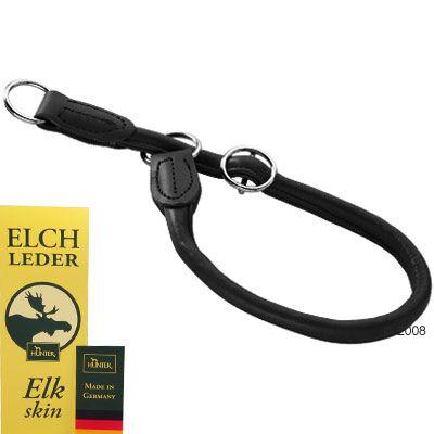 Collier pour chien Hunter Round & Soft, noir - L 55 x 1 cm
