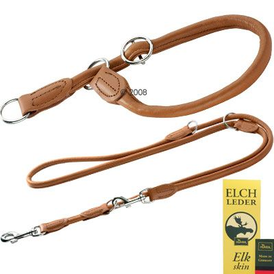 Hunter Round & Soft Set Lead & Collar - Collar Size max. 50 cm Ø 10mm