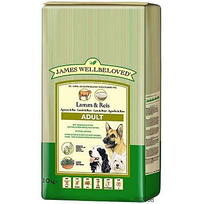 James Wellbeloved Adult Lamm & Reis - Sparpaket 2 x 10 kg