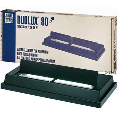 Juwel Duolux Hood & Light Unit - 80 x 35 cm, 2 x 18 Watt black