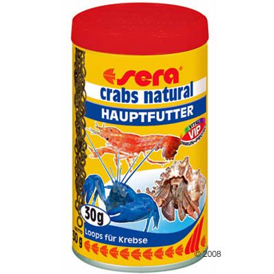 Aliment complet pour écrevisses Sera Crabs Natural- 100 ml