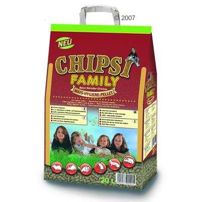 Litiere de maa¯s Chipsi Family pour rongeur et oiseau - 20 L