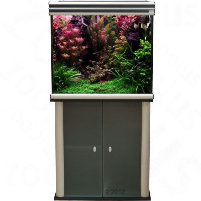 Ensemble aquarium/sous-meuble Aquatlantis kit Evasion 67x67 - noir