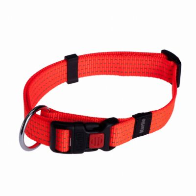 Karlie Reflective Dog Collar Neon Orange - Size 1